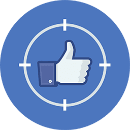 Facebook target likes icon Soclikes